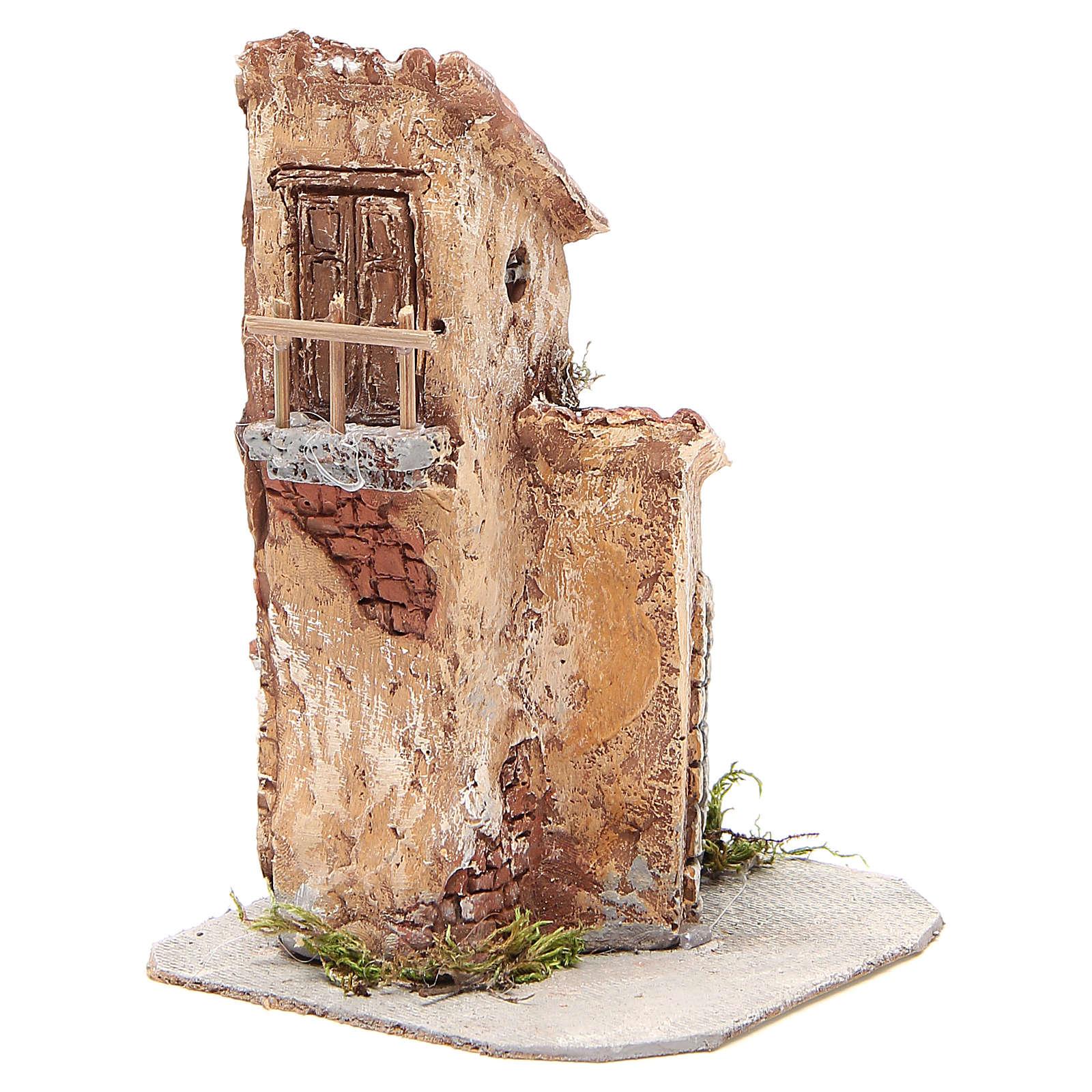 Casa resina y madera belén Nápoles 22x12x12 cm 4