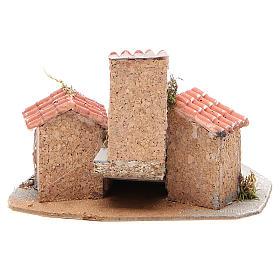 Composition maisons crèche napolitaine 17x24x20 cm s4