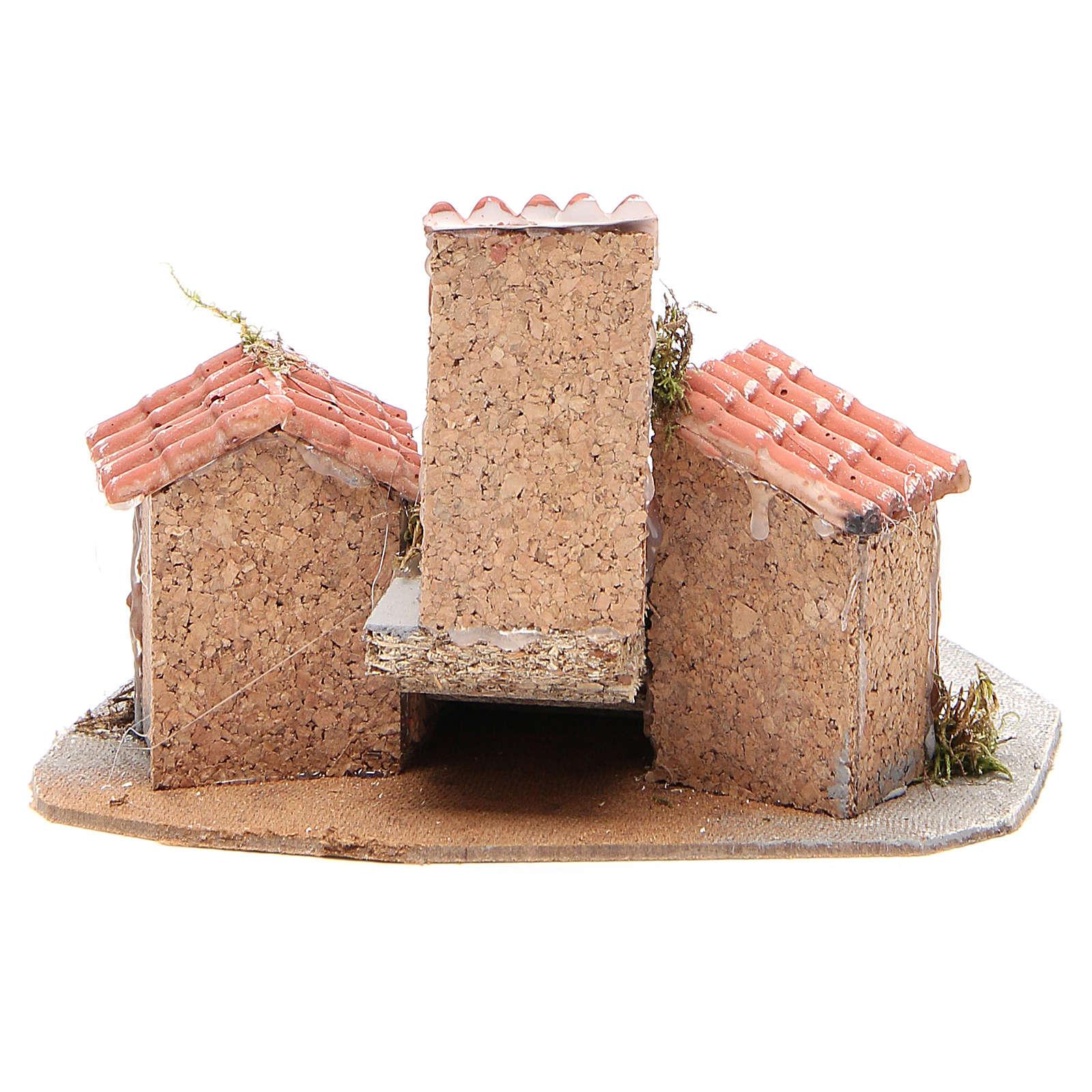 Composition of houses for Neapolitan Nativity scene, 17x24x20cm 4