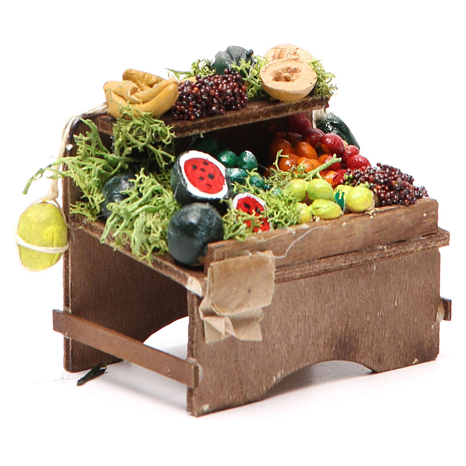 Banco frutta sfusa 8x9x7 cm presepe Napoli 4