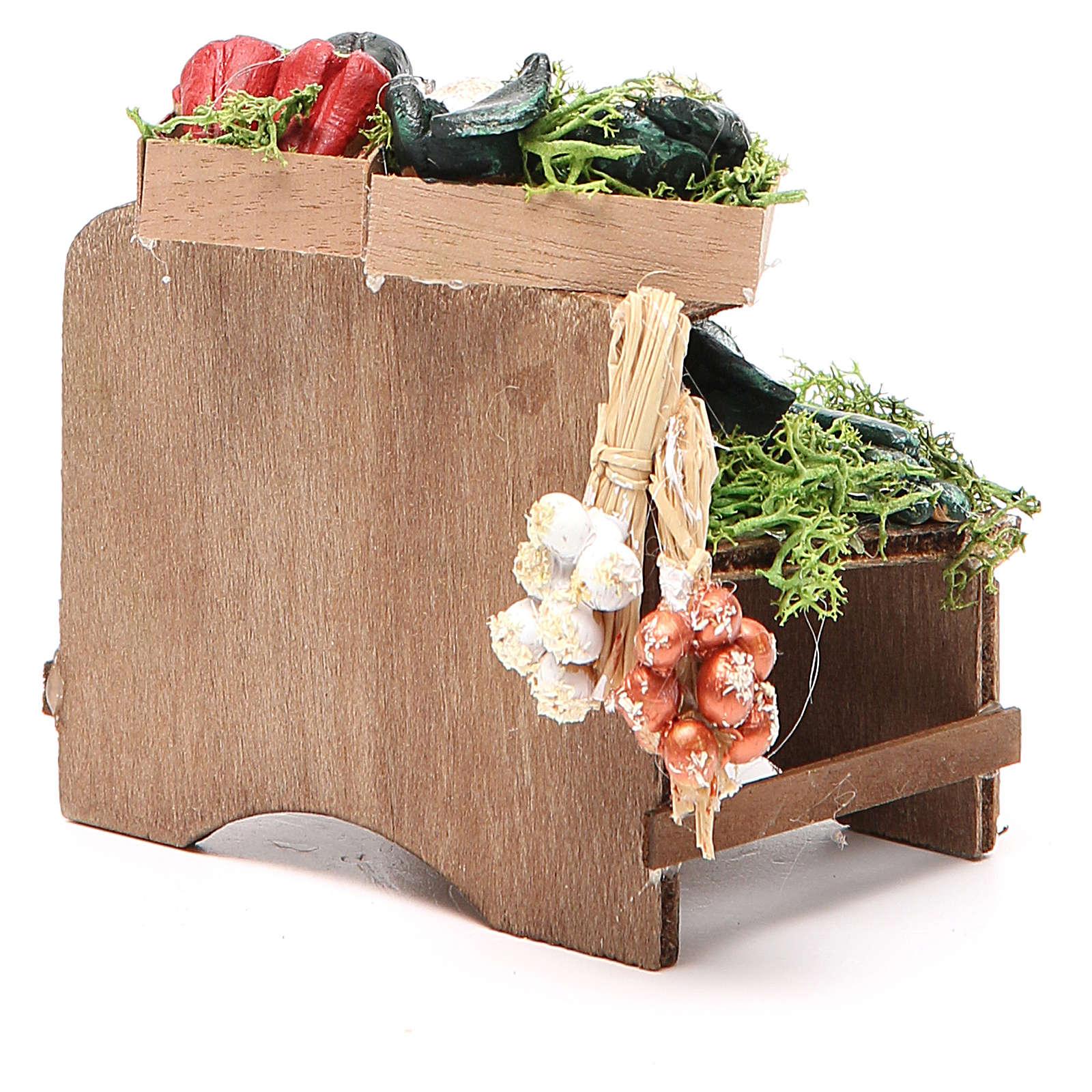 Work bench with veggies 8x9x7cm Naples Nativity 4