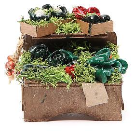 Work bench with veggies 8x9x7cm Naples Nativity s1