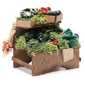 Work bench with veggies 8x9x7cm Naples Nativity s3