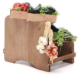Work bench with veggies 8x9x7cm Naples Nativity s4