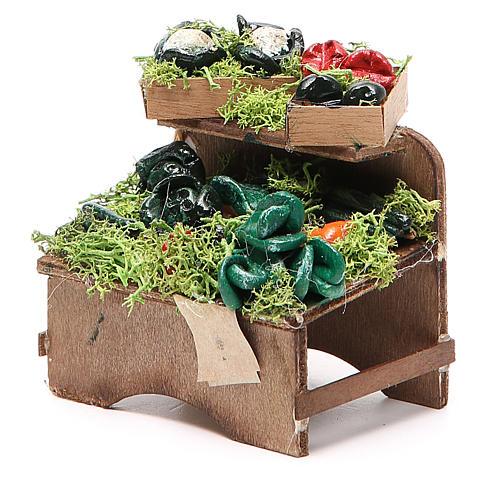 Work bench with veggies 8x9x7cm Naples Nativity 2