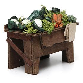 Tavolo con frutta sfusa 8x9x7 cm presepe napoletano s3