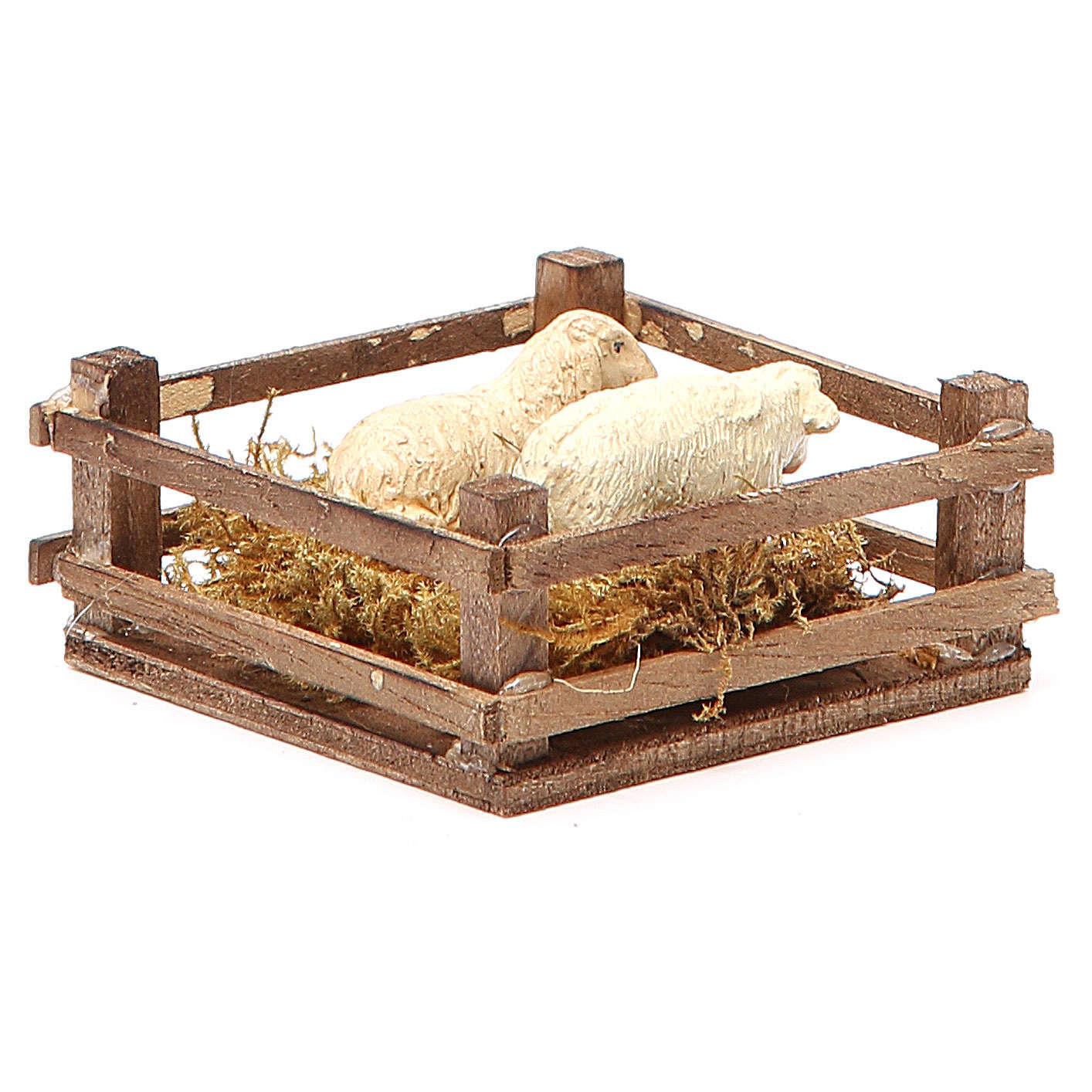 Clôture pour moutons 3x6,5x6,5 cm crèche napolitaine 4