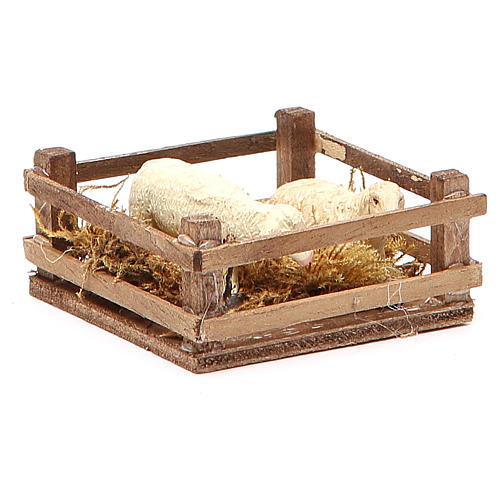 Clôture pour moutons 3x6,5x6,5 cm crèche napolitaine 3