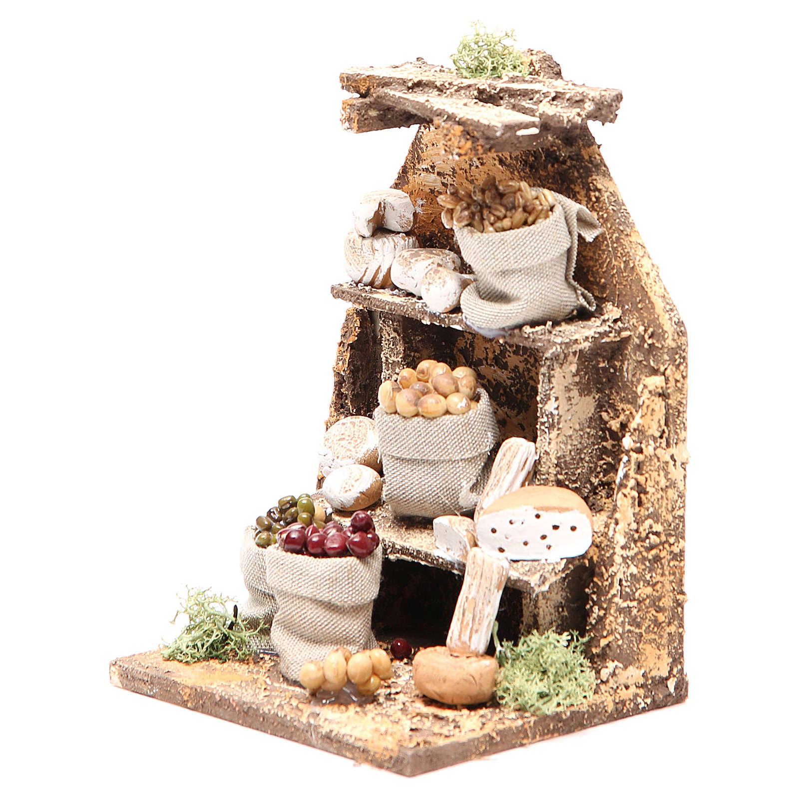 Set with Cheeses 15x10x9cm neapolitan Nativity 4