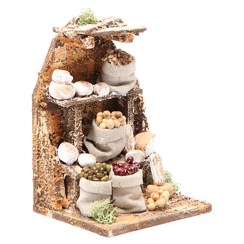 Set with Cheeses 15x10x9cm neapolitan Nativity 3
