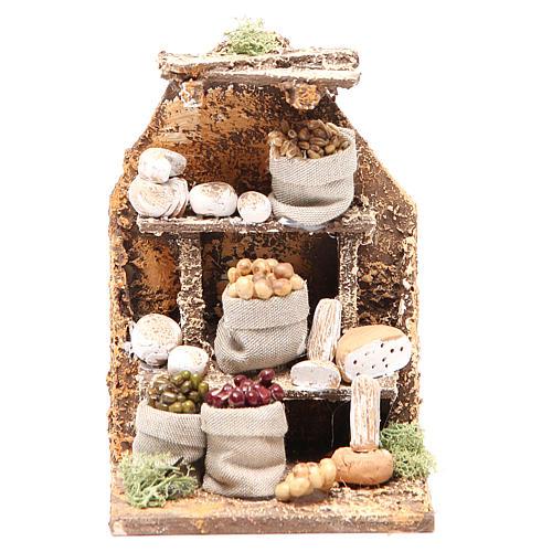 Scène avec fromages 15x10x9 cm crèche napolitaine 1