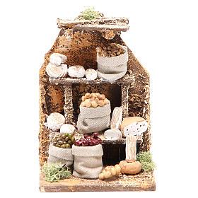 Scenetta con formaggi 15x10x9 cm presepe napoletano s1