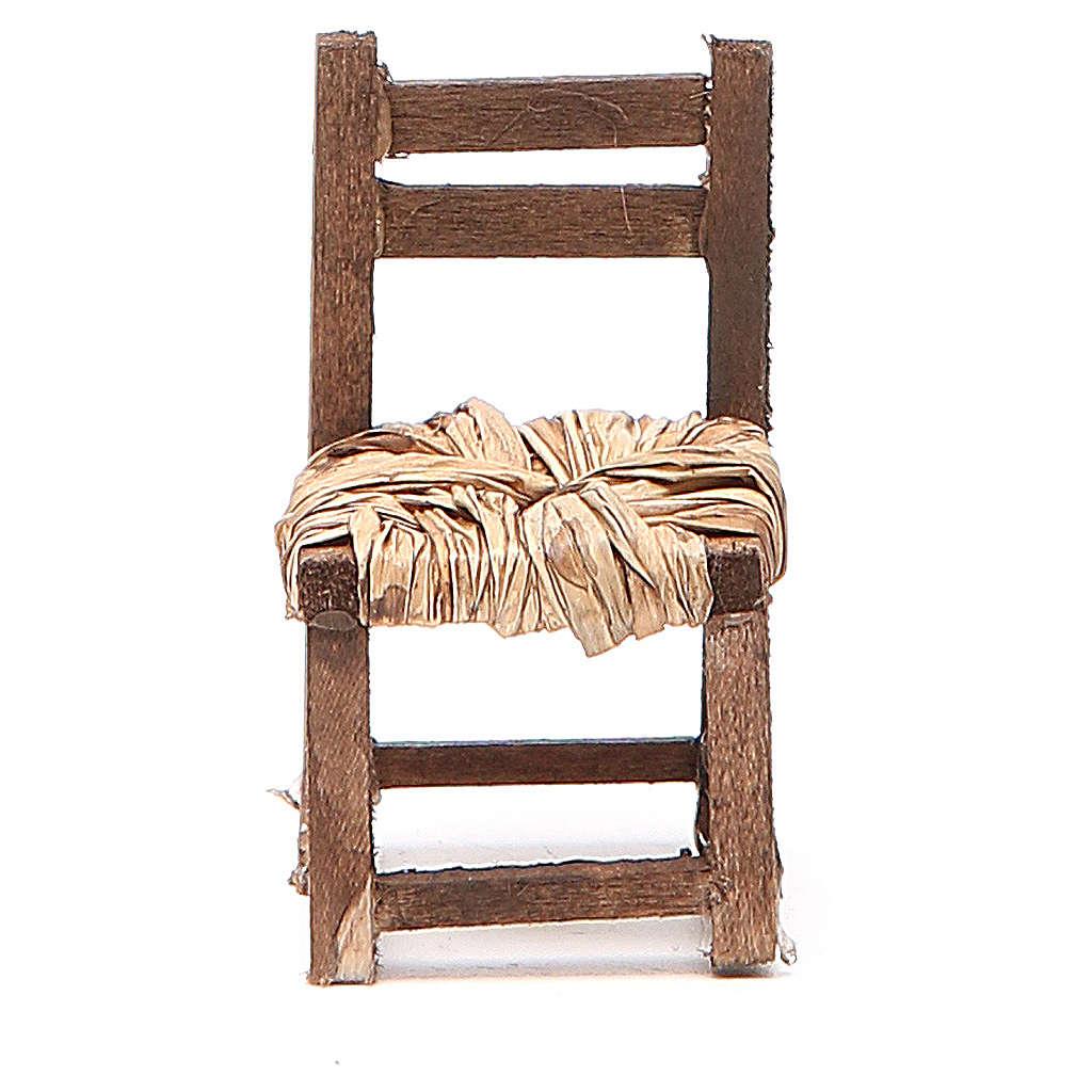 Sedia legno h 6 cm presepe napoletano 4