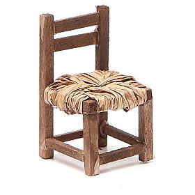 Sedia legno h 6 cm presepe napoletano s7