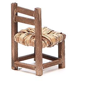 Sedia legno h 6 cm presepe napoletano s8