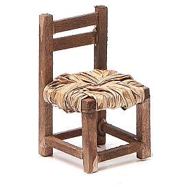 Sedia legno h 6 cm presepe napoletano s1
