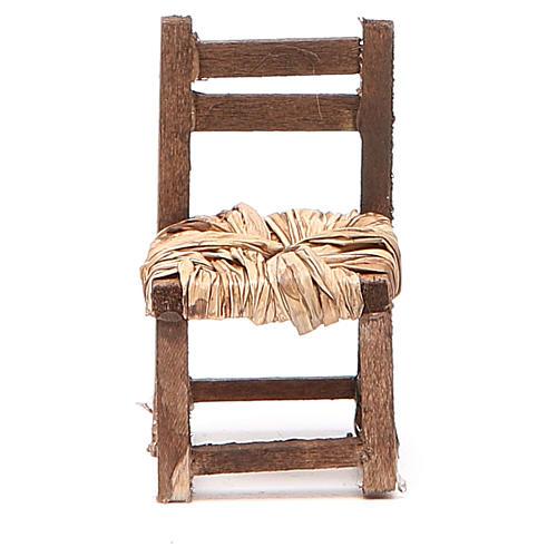 Sedia legno h 6 cm presepe napoletano 5