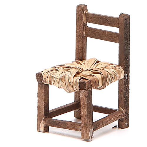 Sedia legno h 6 cm presepe napoletano 6