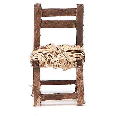 Sedia legno h 6 cm presepe napoletano 3