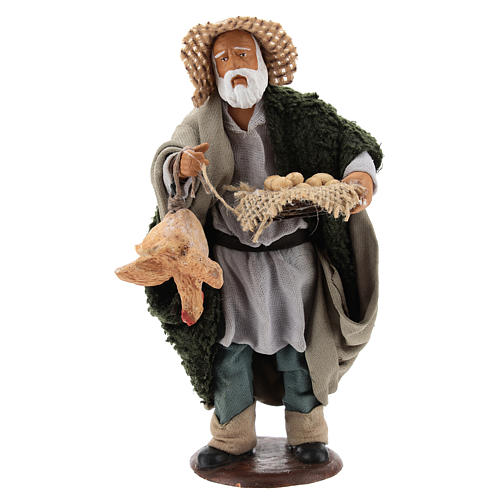Man with hen and egg basket 14cm neapolitan Nativity 1