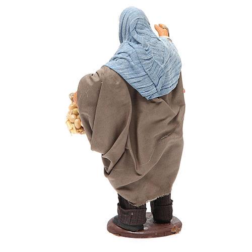 Hombre con gallina y cesta huevos 14 cm belén napolitano 3