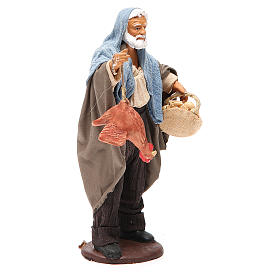 Man with hen and egg basket 14cm neapolitan Nativity s4