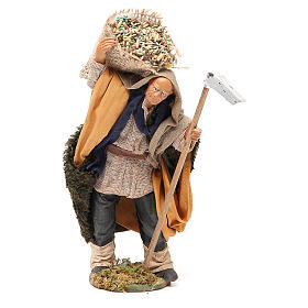 Neapolitan Nativity Scene: Man with hoe and sack 14cm neapolitan Nativity