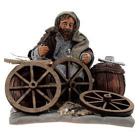 Reparador de ruedas 10 cm Belén napolitano s1