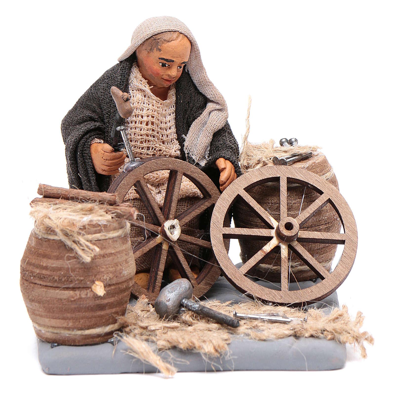 Réparateur de roues 10 cm crèche napolitaine 4