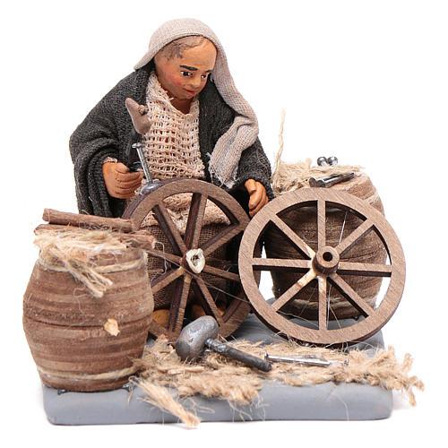 Réparateur de roues 10 cm crèche napolitaine 1