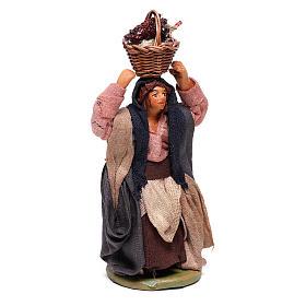 Mujer con cesta en la cabeza con huevos 10 cm belén Nápoles s3