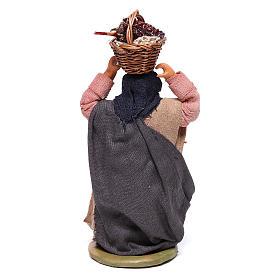 Mujer con cesta en la cabeza con huevos 10 cm belén Nápoles s4