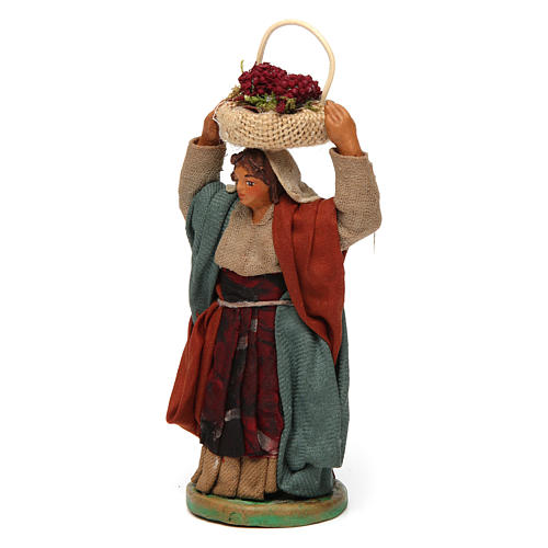 Femme panier oeufs sur la tête 10 cm crèche Naples 2