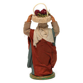 Woman with grapes basket on head 10cm neapolitan Nativity s4