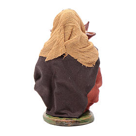 Woman with leather basket in hands 10cm neapolitan Nativity s4