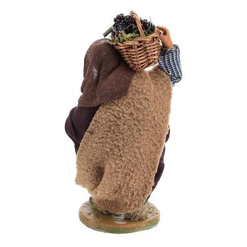 Homme panier oeufs en cuir 10 cm crèche napolitaine 5