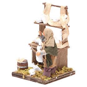 Venditore sacchi di farina con banco 10 cm presepe Napoli s2