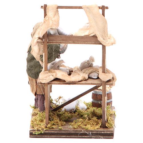 Flour sacks Seller with desk 10cm neapolitan Nativity 4