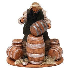 Neapolitan Nativity Scene: Man repairing Barrels 12cm neapolitan Nativity