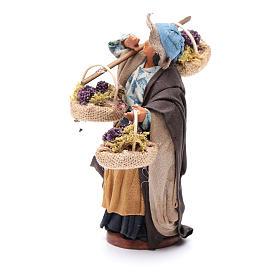 Viandante donna con tre cesti 12 cm presepe Napoli s2
