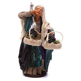 Viandante donna con tre cesti 12 cm presepe Napoli s1