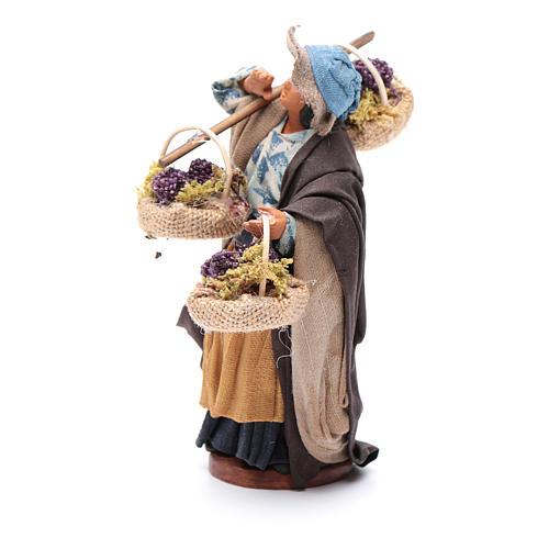 Viandante donna con tre cesti 12 cm presepe Napoli 2