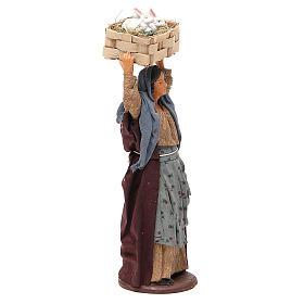 Mujer con casete conejos 14 cm belén napolitano s4