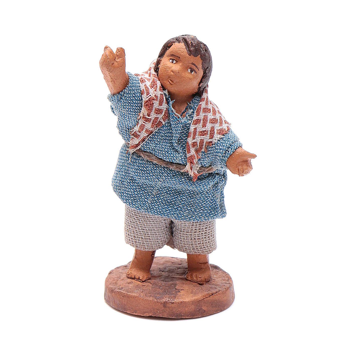 Enfant qui fait signe 10 cm crèche napolitaine 4
