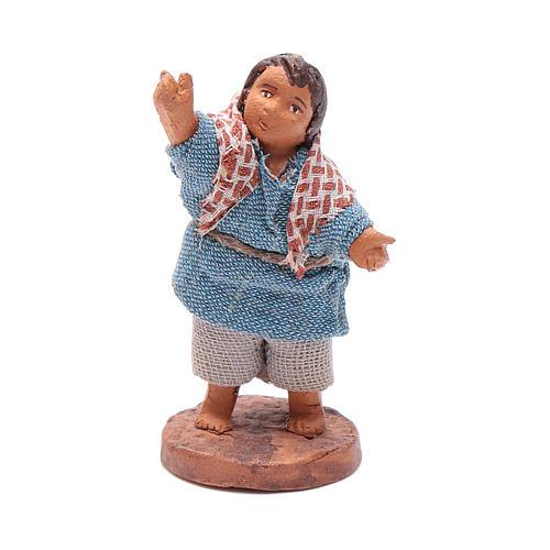 Enfant qui fait signe 10 cm crèche napolitaine 1