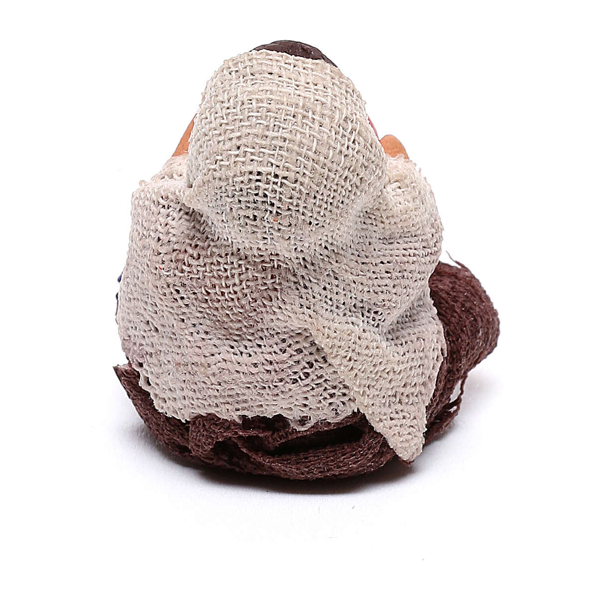 Niño con pelota sentado 10 cm de altura media belén napolitano 4