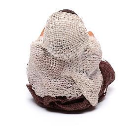 Fanciullo con palla seduto 10 cm presepe napoletano s4