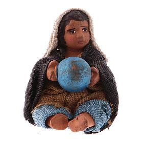 Little boy sitting with ball 10cm neapolitan Nativity s1
