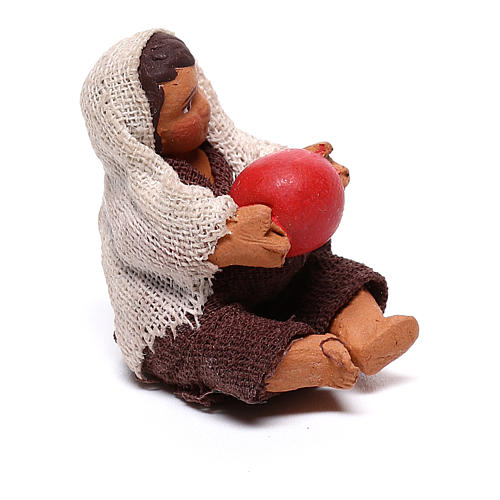 Little boy sitting with ball 10cm neapolitan Nativity 3