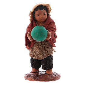 Little boy standing with ball 10cm neapolitan Nativity s1